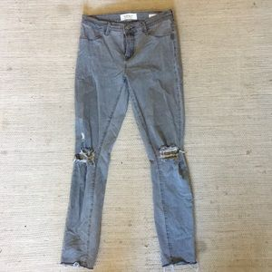 Gray Pacsun jeans with ripped knees